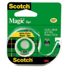 "Magic Tape w/Refillable Dispenser, 3/4"" x 300"", Clear MMM105"