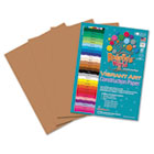 Heavyweight Construction Paper, 58 lbs., 9 x 12, Brown, 50 Sheets/Pack RLP63101