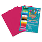 Heavyweight Construction Paper, 58 lbs., 9 x 12, Scarlet, 50 Sheets/Pack RLP62801