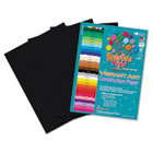 Heavyweight Construction Paper, 58 lbs., 9 x 12, Black, 50 Sheets/Pack RLP62501