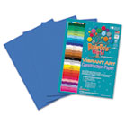 Heavyweight Construction Paper, 58 lbs., 9 x 12, Blue, 50 Sheets/Pack RLP60401