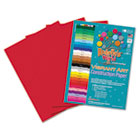 Heavyweight Construction Paper, 58 lbs., 9 x 12, Holiday Red, 50 Sheets/Pack RLP68801