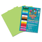 Heavyweight Construction Paper, 58 lbs., 9 x 12, Bright Green, 50 Sheets/Pack RLP65501