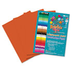 Heavyweight Construction Paper, 58 lbs., 9 x 12, Orange, 50 Sheets/Pack RLP61501