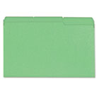 Colored File Folder, 1/3 Cut One-Ply Tab, Legal, Bright Green, 100/Box UNV10522