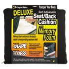 Deluxe Seat/Back Cushion w/Memory Foam, 17-1/2w x 2-3/4d x 17h, Black MAS91061