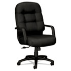2090 Pillow-Soft Series Executive High-Back Swivel/Tilt Chair, Black/Black HON2091NT10T
