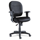 Wrigley Series Mesh Mid-Back Chair, Black ALEWR42BME10B