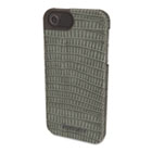 Vesto Textured Leather Case, for iPhone 5, Gray Lizard KMW39624