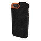 Portafolio Flip Wallet for iPhone 5, Black/Orange KMW39608