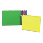 Hanging File Folders, Letter Size, 1/5 Tab, 11 Pt., Assorted Colors, 25/Box UNV14121