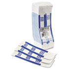 Self-Adhesive Currency Straps, Blue, $100 in Dollar Bills, 1000 Bands/Box MMF216070C08