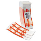 Self-Adhesive Currency Straps, Orange, $50 in Dollar Bills, 1000 Bands/Box MMF216070B16