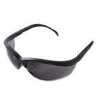 Klondike Safety Glasses, Matte Black Frame, Gray Lens CRWKD112