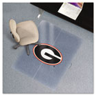 Collegiate Chair Mat for Low Pile Carpet, 36 x 48, Georgia Bulldogs ESR500510