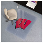 Collegiate Chair Mat for Low Pile Carpet, 36 x 48, Wisconsin Badgers ESR505310