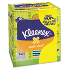 KLEENEX Anti-Viral Facial Tissue, 3-Ply, White, 68 Sheets/Box KIM35551EA