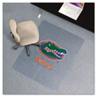 Collegiate Chair Mat for Low Pile Carpet, 36 x 48, Florida Gators ESR502118