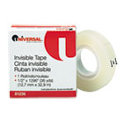 "Invisible Tape, 1/2"" x 1296"", 1"" Core, Clear UNV81236"