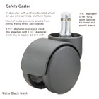Safety Casters, 100 lbs./Caster, Nylon, B Stem, Soft, 5/Set MAS64335