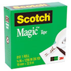 "Magic Office Tape, 3/4"" x 1296"", 1"" Core, Clear MMM810341296"