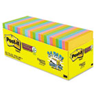 Note Pads in Electric Glow Colors, Cabinet Pack, 3x3, Assorted, 24 70-Sheet Pads MMM65424SSANCP