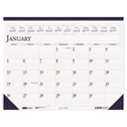 Two-Color Monthly Desk Pad Calendar, 18-1/2 x 13, 2015 HOD1506