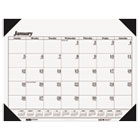 One-Color Refillable Monthly Desk Pad Calendar, 22 x 17, 2015 HOD124