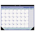 Monthly Academic Desk Pad, 21-1/4 x 16, White/Black, 2013-2014 REDCA181731