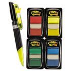 "Flags Value Pack, Assorted Colors, 200 1"" Flags, Highlighter/Pen w/50 flags MMM680RYBGVA"