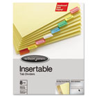 Gold Pro Insertable Tab Index, Multicolor 8-Tab, Letter, Buff Sheets WLJ54130
