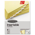 Gold Pro Insertable Tab Index, Clear 8-Tab, Letter, Buff Sheets WLJ54131