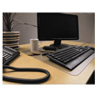 "Desktex Polycarbonate Anti-Slip Desk Mat, 22"" x 17"", Clear FLRFPDE1722RA"