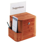 Bamboo Suggestion Box, 10 x 8 x 14, Cherry SAF4237CY
