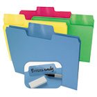 Erasable SuperTab File Folders, Letter, Assorted Colors, 24/Set SMD10480