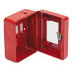 Hercules Emergency Safe, Steel, 0.05 ft3, 4-3/4w x 6d x 3h, Red FIREK0506