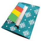 Teal Designer Pop-Up Flag Dispenser, 4 Pads of 35 Flags Each RTG75007
