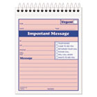 Telephone Message Book with Fax/Mobile Section, 4-1/4 x 5 1/2, Two-Part, 50/Book TOP4010