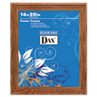 Plastic Poster Frame, Traditional Clear Plastic Window, 16 x 20, Medium Oak DAX2856V1X