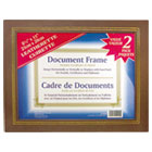 Leatherette Document Frame, 8-1/2 x 11, Espresso Brown, Pack of Two NUD21203