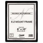 EZ Mount II Document Frame, Plastic, 8 x 10, Black/Silver NUD13800