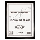 EZ Mount II Document Frame, Plastic, 8-1/2 x 11, Black/Silver NUD13880