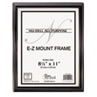 EZ Mount Document Frame, Plastic, 8 1/2 x 11, Black NUD10570