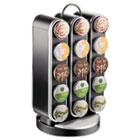 Vortex Single-Serve Cup Carousel, 30-Cup Capacity, 8 x 7 1/2 x 14, Black/Chrome EMSCRS01BLK