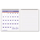 "Mini Monthly Wall Calendar With Notes Pages, 13 x 7-1/2"", White, 2014 AAGPMN528"