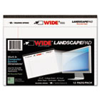 WIDE Landscape Format Writing Pad, 8 x 6, White, 40 Sheets/Pad, 1/Pad ROA74600