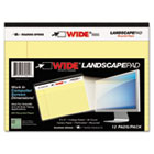 WIDE Landscape Format Writing Pad, 8 x 6, Canary, 40 Sheets/Pad, 1/Pad ROA74601