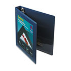 "Framed View Binder with One Touch EZD Rings, 1"" Capacity, Navy Blue AVE68055"