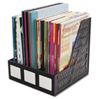 Literature File, Three Slots, Black AVT34091