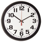 "Bold Quartz Contract Clock, 13-3/4"", Black ILC67700000"